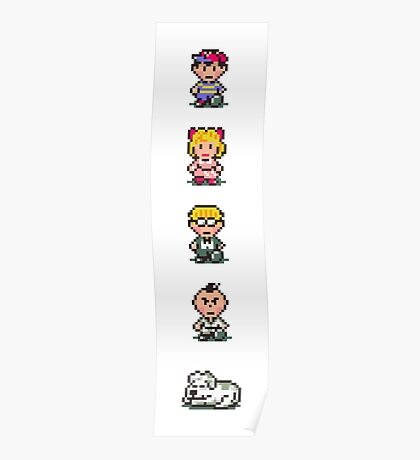 Earthbound - Characters Poster