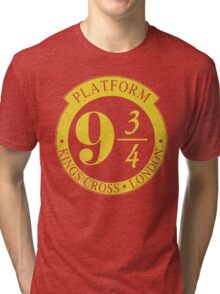 9 3/4 Harry Potter Inspired  Tri-blend T-Shirt