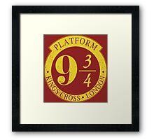 9 3/4 Harry Potter Inspired  Framed Print