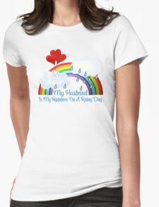 Husband Is My Rainbow Womens Fitted T-Shirt