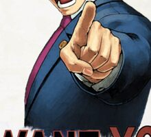 Phoenix Wright Wants YOU to Tell the Truth (full poster) Sticker