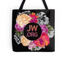 Black Floral Logo Tote Bag