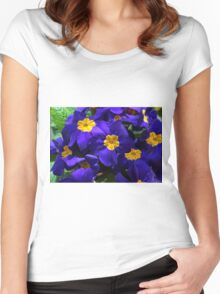 Azure Primrose Women's Fitted Scoop T-Shirt