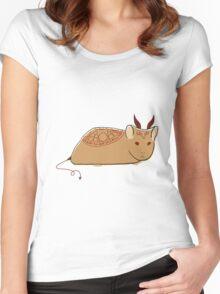 Demonic Hamster Women's Fitted Scoop T-Shirt