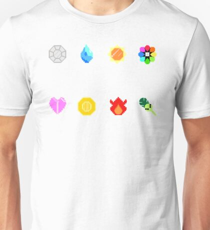 Pixelmon Badges Unisex T-Shirt