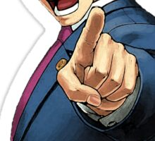 Phoenix Wright Wants YOU to Tell the Truth (transparent) Sticker