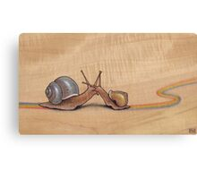Snail Kiss (red/green) Canvas Print