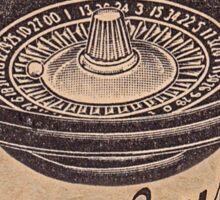 vintage roulette ad Sticker