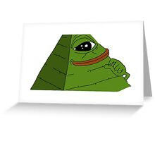 illuminati Pepe Greeting Card