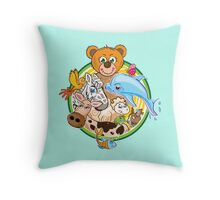 Animals Mix Nr. 3 Throw Pillow