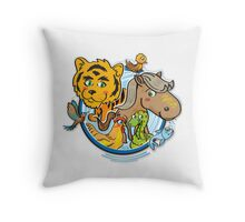 Animals Mix Nr. 1 Throw Pillow