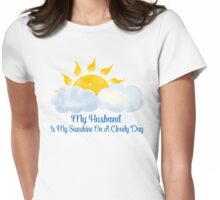 Husband Is My Sunshine Womens Fitted T-Shirt