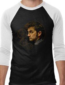Tenth Doctor with Gallifreyan, Doctor Who Men's Baseball ¾ T-Shirt