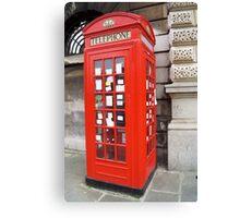 Sherlock Memorial Phonebox Canvas Print