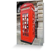 Sherlock Memorial Phonebox Greeting Card