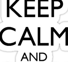 Keep Calm and Apply Yourself Sticker
