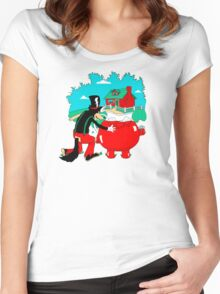 Big Bad Wolf & Kool Aid Man Women's Fitted Scoop T-Shirt