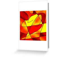 ABSTRACT CURVES-2 (Reds, Oranges & Yellows)-(9000 x 9000 px) Greeting Card