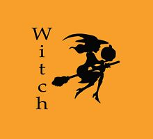 Flying Witch on Broomstick with Pumpkin Unisex T-Shirt