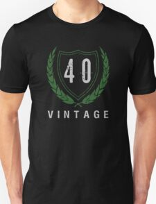 40th Birthday Laurels T-Shirt Unisex T-Shirt
