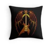 Black Metal Throw Pillow