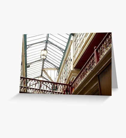 Cardiff Shopping Arcade Greeting Card