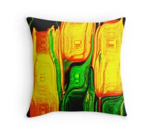 Tulips Abstract Cushion Throw Pillow