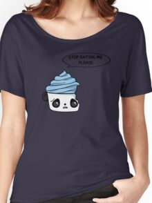 stop eating me please Women's Relaxed Fit T-Shirt