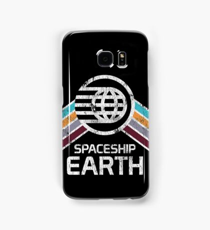 Vintage Spaceship Earth with Distressed Logo in Retro Style Samsung Galaxy Case/Skin