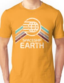Vintage Spaceship Earth with Distressed Logo in Retro Style Unisex T-Shirt
