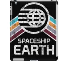 Vintage Spaceship Earth with Distressed Logo in Retro Style iPad Case/Skin