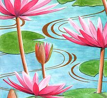 Lotus Flower by Bridgeman Art Library