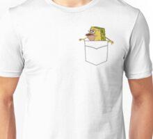 Caveman Spongebob in a pocket Unisex T-Shirt