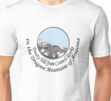 Treaty Hill as seen from Council Rocks in the Dragoon Mtns. of Arizona Unisex T-Shirt