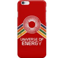 Universe of Energy Logo in Vintage Distressed Style iPhone Case/Skin