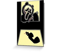 Masters of Bearror - Ghost-Bear-Face Greeting Card