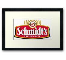 Schmidts Beer  Framed Print
