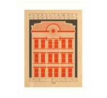 Spirit Building - 1908 (Orange) Art Print