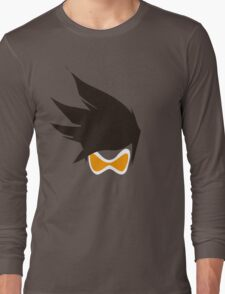 Tracer Hair and Goggles Vector Long Sleeve T-Shirt
