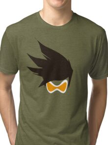 Tracer Hair and Goggles Vector Tri-blend T-Shirt