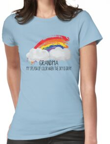 Grandma Is Splash of Color Womens Fitted T-Shirt