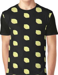 Tiny Lemon Print Graphic T-Shirt