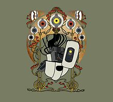 Art Nouveau Glados Throw Pillow by atomicgirl