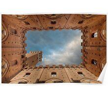 Toscane Sienna De Campo Palazzo Publico Poster