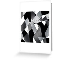 ABSTRACT LINES-1 (Black, Greys, White)-(9000 x 9000 px) Greeting Card