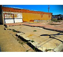 Vacant Lot - Brady, Texas Photographic Print