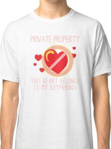 Heart Belongs To Boyfriend Classic T-Shirt