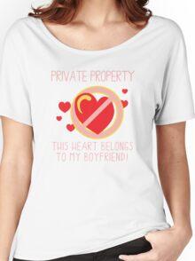 Heart Belongs To Boyfriend Women's Relaxed Fit T-Shirt