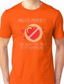 Heart Belongs To Boyfriend Unisex T-Shirt