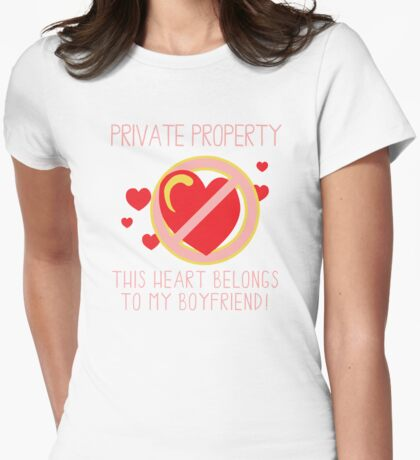 Heart Belongs To Boyfriend Womens Fitted T-Shirt